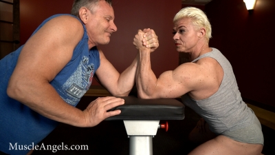 Tamara Makar arm wrestling iron bending compilation