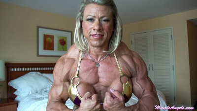 Julie Bourassa ~ Massive Pecs and Arms