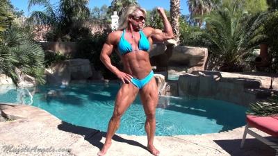 Tina Chandler poolside muscle