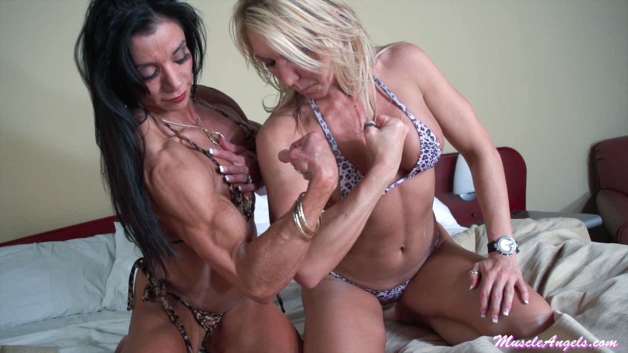 Samantha and Marina ~ Sexy Girl-Muscle Comparisons